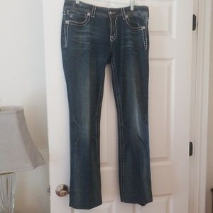 MISS MEAN DISTRESSED JEANS